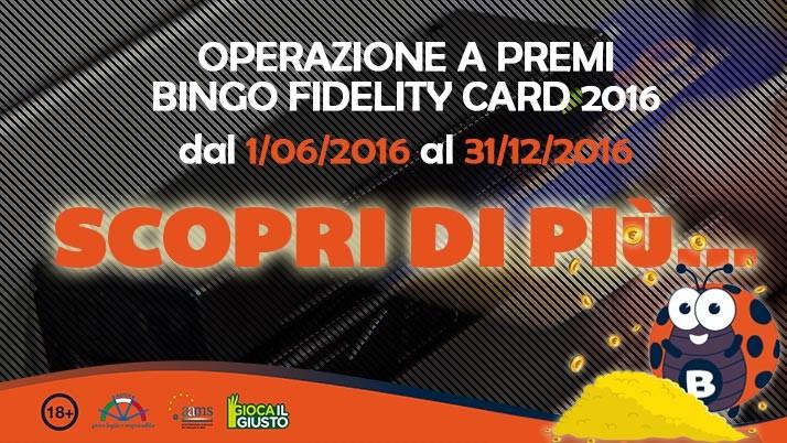 OPERAZIONE A PREMI FIDELITY CARD 2016